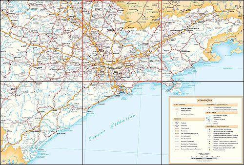 Mapa original do DER/SP, adaptado pelo GUIA MONTE VERDE